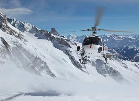 INCREDIBLE HELICOPTER RIDE OVER THE MONT BLANC GLACIERS